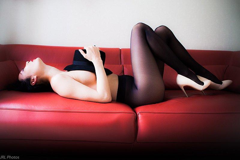 sur canapé